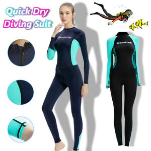1mm Thin Lycra Wetsuit Womens Surfing Snorkeling Full Body Diving Suit Quick Dry