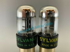 "Sylvania 6SN7GTB ""Chrome Dome"" Tubes * TESTS NOS * PLATINUM MATCHED on AT1000 *"