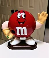 "Vintage 1991 M&M Red Candy Dispenser Collectible Figure 9"" Mars Inc."