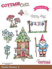 Cottage Cutz Stamps & Dies Set - Garden Gnomes - Toadstools, Washing Line