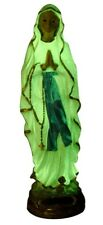 Statue phosphorescente Vierge Marie Notre Dame Lourdes H 22 cm cadeau communion