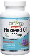 Natures Aid Flaxseed Oil, 1000 mg, 90 Softgel Capsules