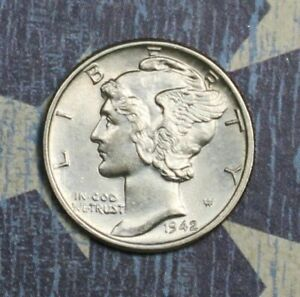 1940 Mercury Silver Dime Full Split Bands Collector Coin For You. FREE SHIPPING