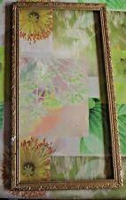 Ancien Cadre Bois Rinceaux Dorure Rectangulaire  64 x 34,5cm Vintage avec éclats