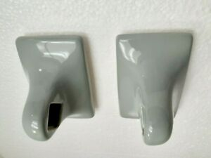 Grey Gray Green Ceramic Towel Bar Rod Rack Holders Vintage Mid Century Modern