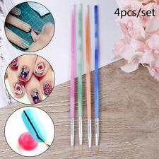 4Pc/Set Nail Art Liner Mixed Color Stripes Liner Drawing Brush Grid Painting Pen