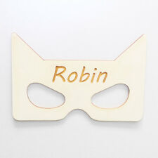 Personalised Wooden Bedroom Sign - Superhero Mask - Custom Bedroom Sign