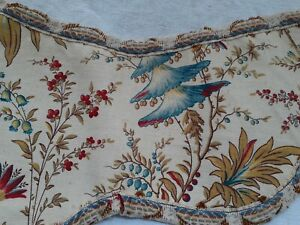 Antique Vintage French  Botanical Fabric. Curtain tie back?