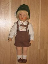 alte Käthe Kruse Puppe Friedebald US-Zone 1957 mit Originalkleidung