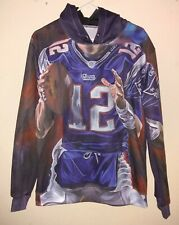 New England Patriots #12 Tom Brady Pull-Over Hoodie Youth-Adult Size Please Read