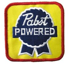 Pabst Powered Beer EMROIDERED Jacket Vest 3 Inch Patch