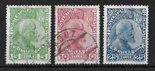 LIECHTENSTEIN 1912-1915 Used Complete Set of 3 Yvert #1-3 VF
