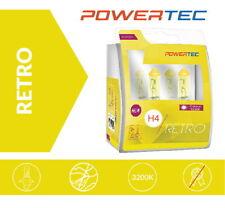 POWERTEC H4 RETRO Gelb Yellow Look Gold Optik Halogen Lampen Duobox