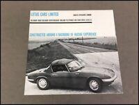 1964 Lotus Elan Original Vintage Car Sales Brochure Folder