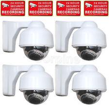 4 x Security Dome Camera Outdoor 700TVL 3.5-8mm Lens 17 IR LEDs Night Vision m6t