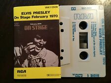 ELVIS PRESLEY On Stage February 1970 - - Rare Australian RCA Cassette