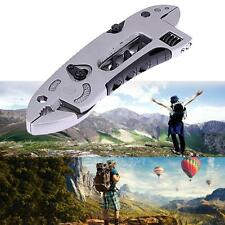 Multi Use Tool Set Adjustable Wrench Jaw Screwdriver Pliers Knife Survival Gear