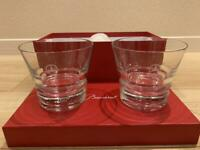 Baccarat Mercedes Benz Limited Item Crystal pair Glass Rare Japan Free Shipping