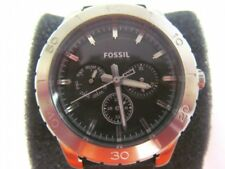 Fossil Mens BQ1053 Kipton Chronograph Leather 43mm watch new battery (+4 extra)