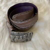 ELLIOT RHODES FULL GRAIN LEATHER BELT 42""
