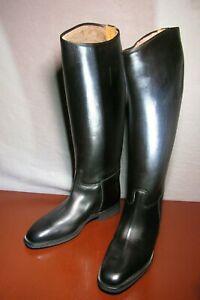 "Mens  "" Konigs""  sheepskin lined leather riding Boots sz 9   "" 39 cm Calf """