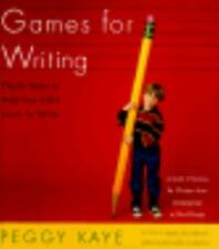 NEW - Games for Writing: Playful Ways to Help Your Child Learn to Write