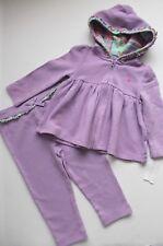 Ralph Lauren Girls Set Outfit Sweatshirt Hoodie Pants Lilac Floral  24 Months