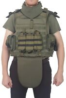 Full Body Armor Plate Carrier Vest 3A IIIA MOLLE Kevlar included