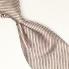 Richel Silk Necktie Solid Silver Gray Twill Weave Woven Tie Made in Spain Tie