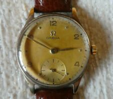 More details for 1950's gold omega watch with scouting inscription