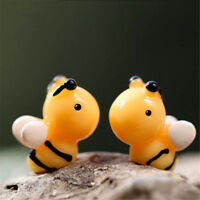 5Pcs Lovely Bee Miniatures For Fairy Garden Gnomes Moss Terrariums Decoration HF