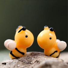 5Pcs Lovely Bee Miniatures For Fairy Garden Gnomes Moss Terrariums Decoration B6