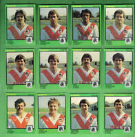 #D410.  1982  ST. GEORGE SCANLENS RUGBY LEAGUE CARDS