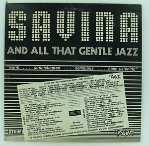 SAVINA And All That Gentle JAZZ LP PROMO Al Hartwell JIMMY RANEY Wilbur Ware