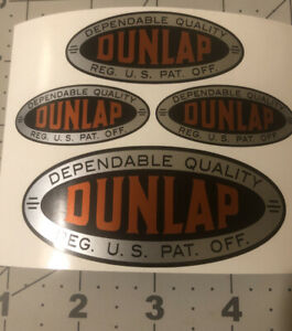 """Dunlap Tools Dependable Quality decals 2"""", 2.5"""", 3.5"""" long box 4 for one price"""