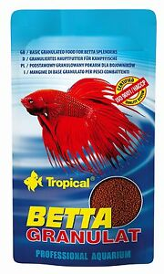 BETTA Granules FISH FOOD For All Tropical Aquarium BETTA SPLENDENS Fighting Fish