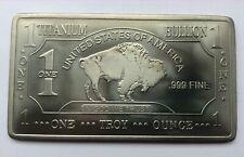 1 Troy Ounce .999 Titanium Bar