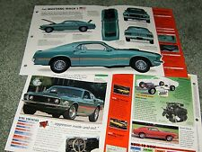 1969-70 MUSTANG MACH I SPEC INFO POSTER BROCHURE PAMPHLET AD 69 1