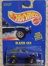 Hot Wheels BLAZER 4X4 Mosc New 1992 Collector Card #222