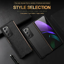 For Samsung Galaxy Z Fold 2 5G Luxury Shockproof Genuine Leather Hard Case Cover