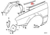 Genuine BMW Gasket Right M3 CMS E30 Gr.A/DTM Gr.N Coupe 51712233122