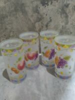 """Sango Sangria SET OF 4 TUMBLERS 6.25"""" ACRYLIC  USED FOR DISPLAY ONLY RARE"""