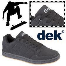 "DEK ""Quark"" Skate Mens Shoes Synthetic Nubuck Leather Boys Skateboard Trainers"