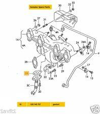 NEW GENUINE VW SEAT SKODA OIL RETURN LINE TO TURBO GASKET 028145757