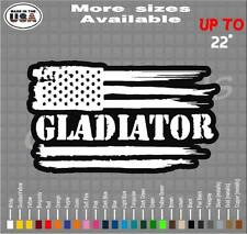 Jeep Gladiator American Flag Vinyl Decal Sticker | Wrangler Decals / Stickers
