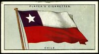 CHILE, FLAGS OF THE LEAGUE OF NATIONS, JOHN PLAYER & SONS CARD