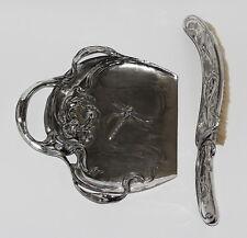 JUGENDSTIL ZINN JUVENTA URANIA ART NOUVEAU TISCHKEHRSET 1903 LIBELLE DRAGONFLY