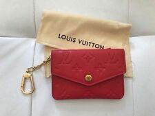 Authentic Red Louis Vuitton Coin Purse with dust bag