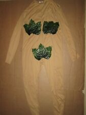 Womens ADAM & EVE Eve leotard Halloween costume fits up to 100 lbs