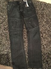 Mens Size W36 L34 Judge & Jury Black Jeans